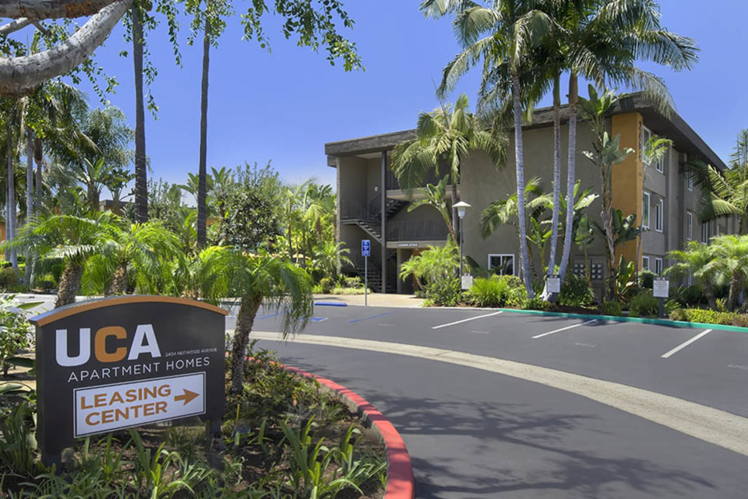 UCA Apartment Homes in Fullerton, California, offer beautifully maintained grounds