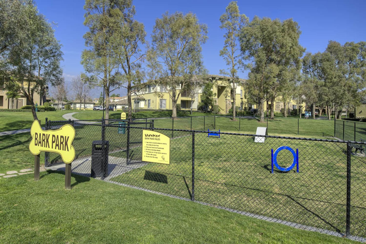 Camino Real offers an onsite dog park in Rancho Cucamonga, California