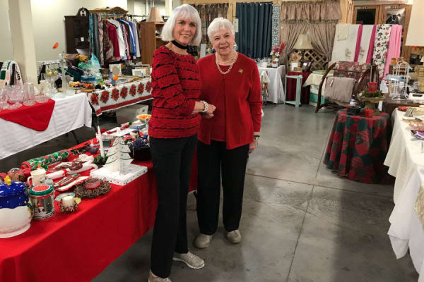 Senior entrepreneurs open thrift shop to the public at Arbour Square of Harleysville in Harleysville, Pennsylvania