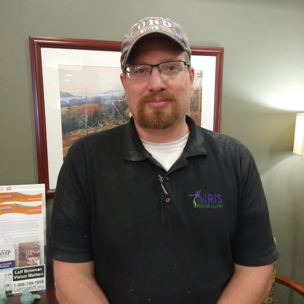 Tyler DePratu at The Iris Senior Living in Great Falls, Montana