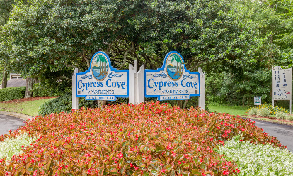 Signage at Cypress Cove in Jacksonville, Florida