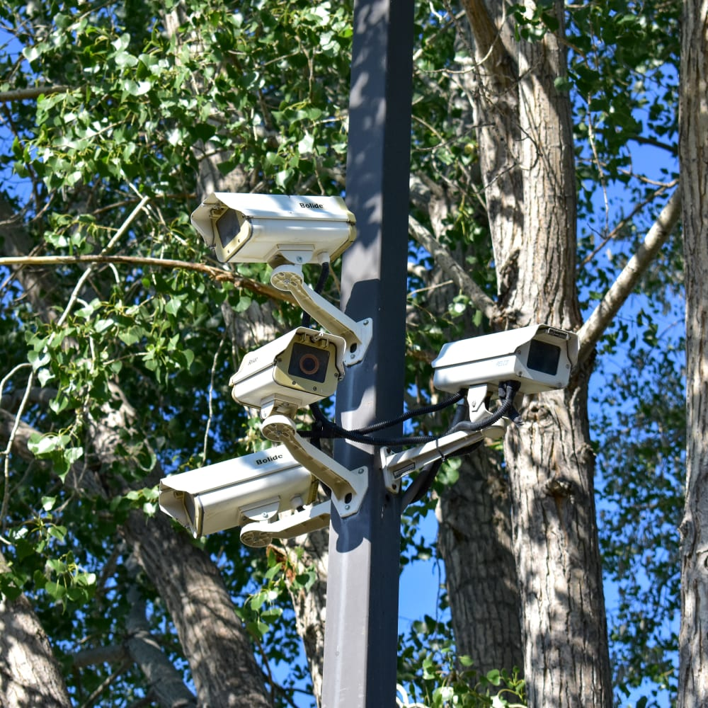 Video surveillance cameras at STOR-N-LOCK Self Storage in Cottonwood Heights, Utah