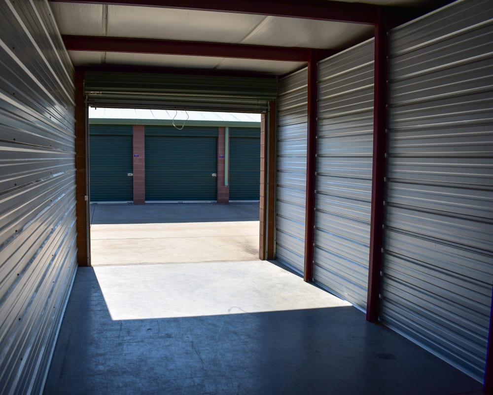 Enclosed auto storage at STOR-N-LOCK Self Storage in Fort Collins, Colorado