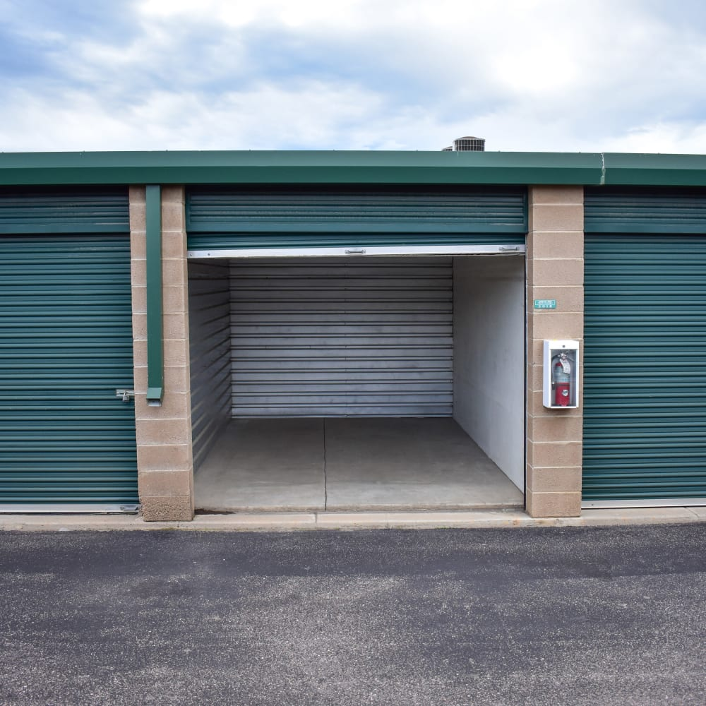 View the convenient drive-up storage options offered at STOR-N-LOCK Self Storage in Littleton, Colorado