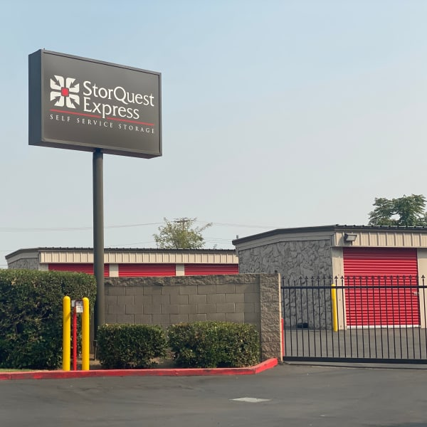 Gated access to outdoor storage units at StorQuest Express - Self Service Storage in Sacramento, California