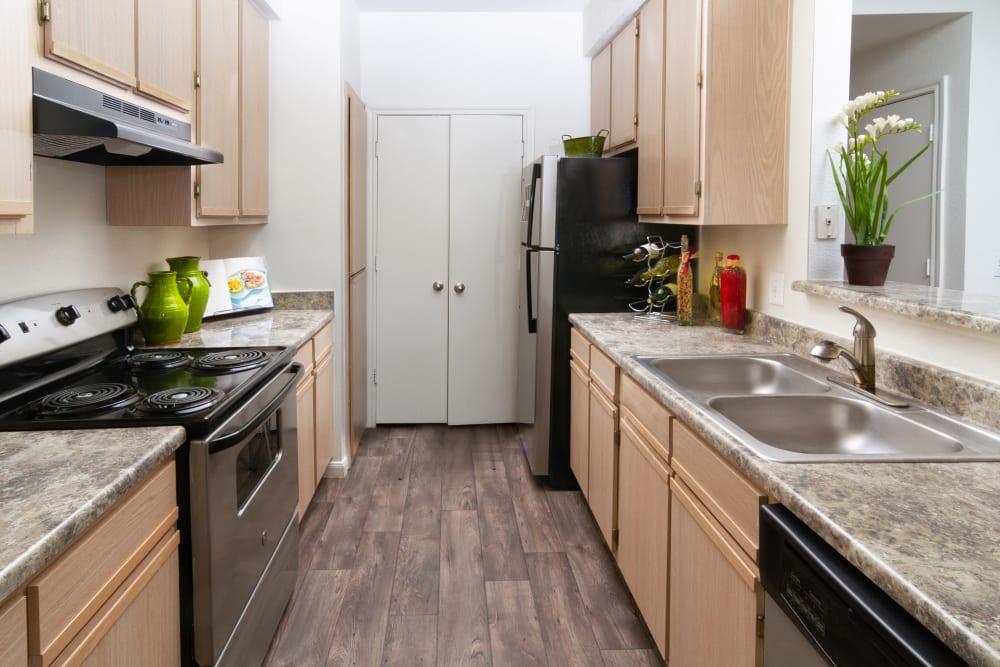 Model Kitchen at Alpine Meadows Apartments