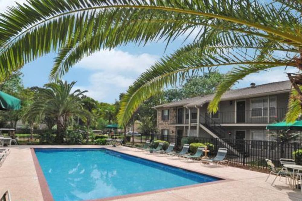 Enjoy a refreshing pool at French Colony Apartments in Lafayette, Louisiana