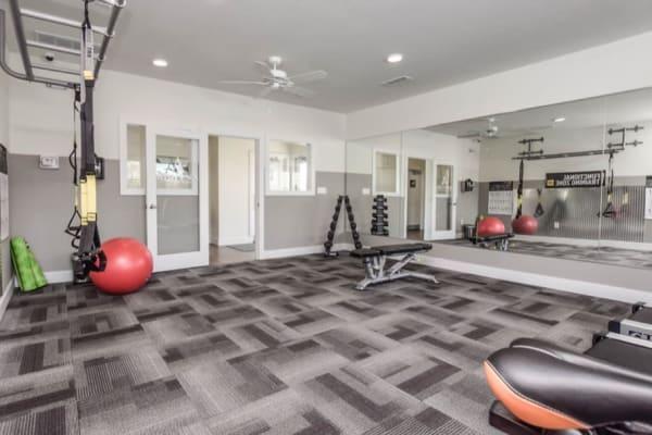 24-hour fitness center at Aventura at Towne Centre in Ellisville, Missouri.