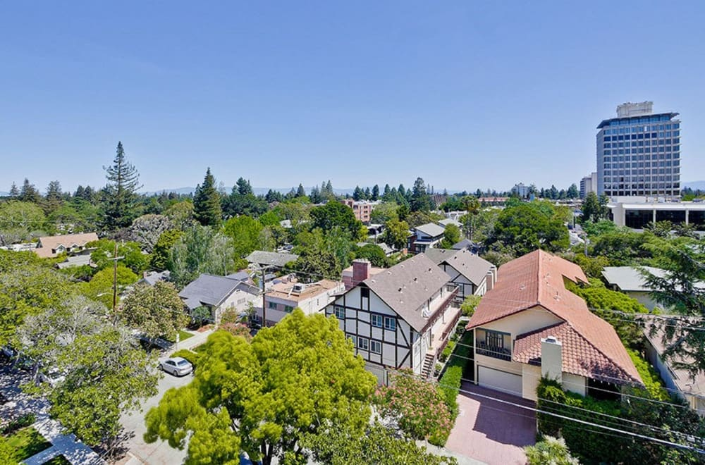Aerial view of apartments in Palo Alto