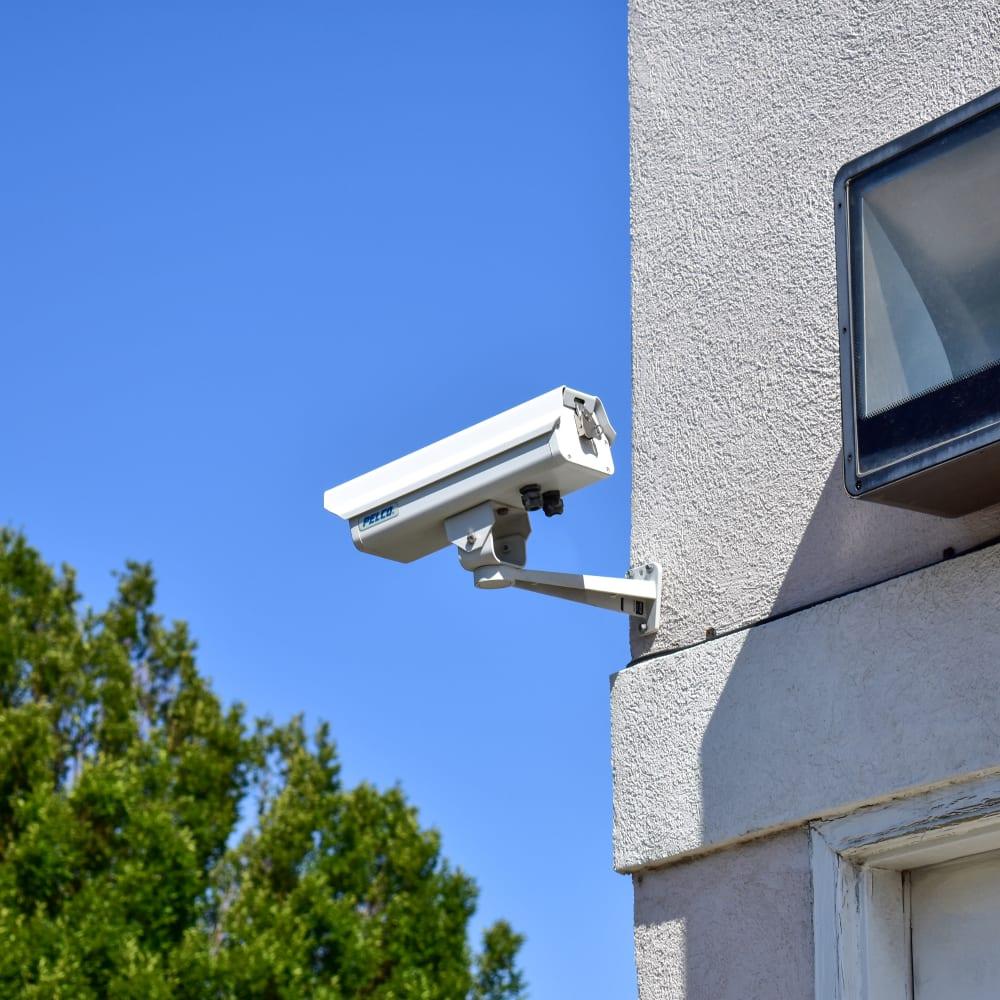 A video surveillance camera at STOR-N-LOCK Self Storage in Cottonwood Heights, Utah