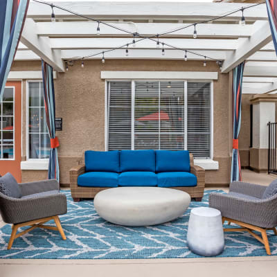 Luxurious outdoor lounge at Sofi Westview in San Diego, California