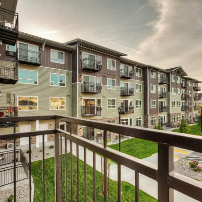 Balcony at a Affinity Living Communities location