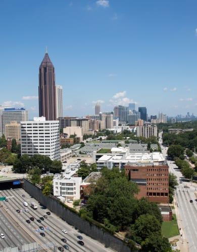 Beautiful sunny day in Atlanta, GA
