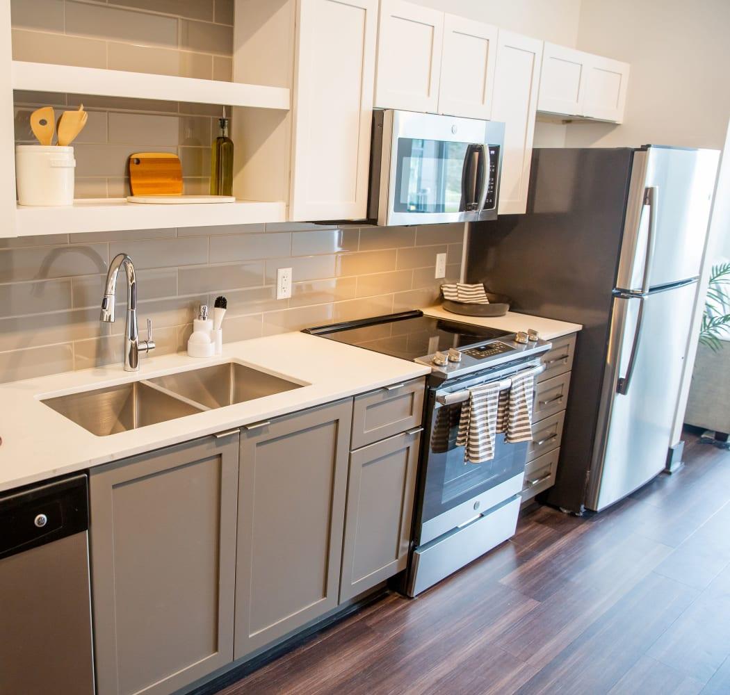 Lovely kitchen at Belcourt Park in Nashville, Tennessee