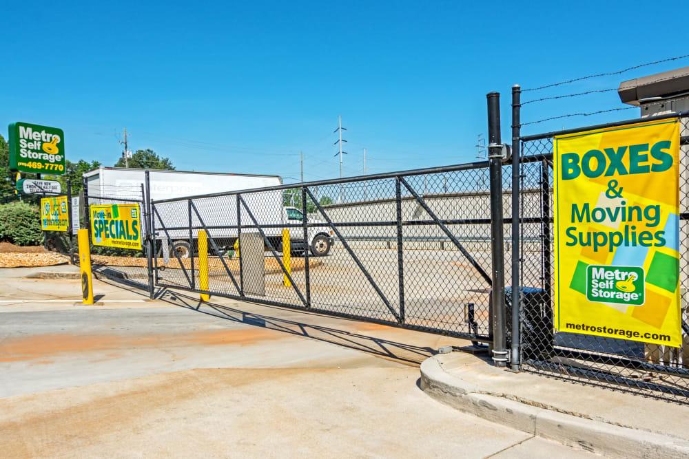 Access gate at Metro Self Storage in Stone Mountain, Georgia