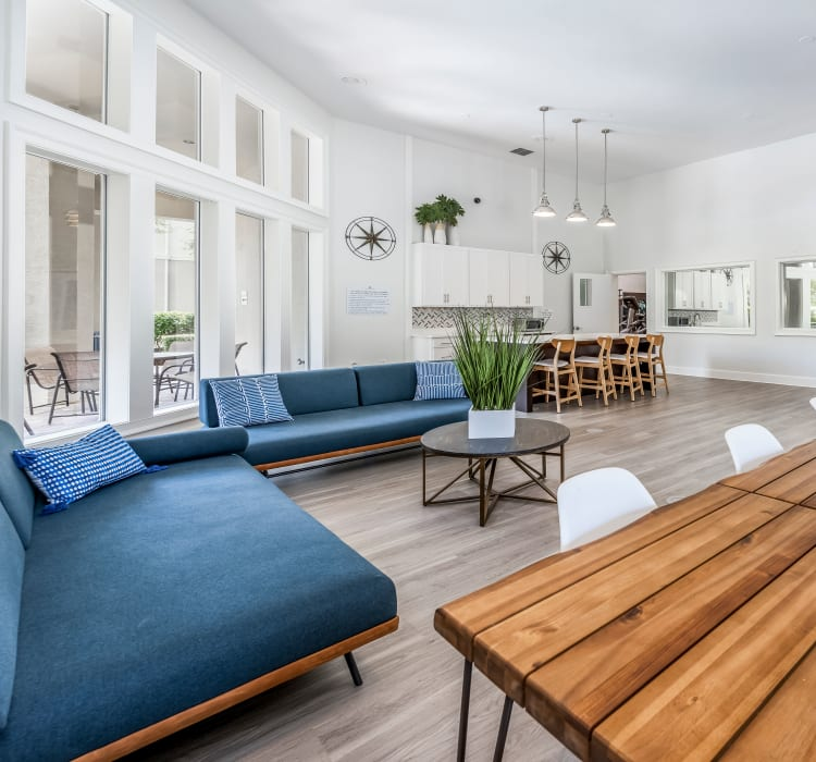 Spacious lounge for residents at Eddison at Deerwood Park in Jacksonville, Florida