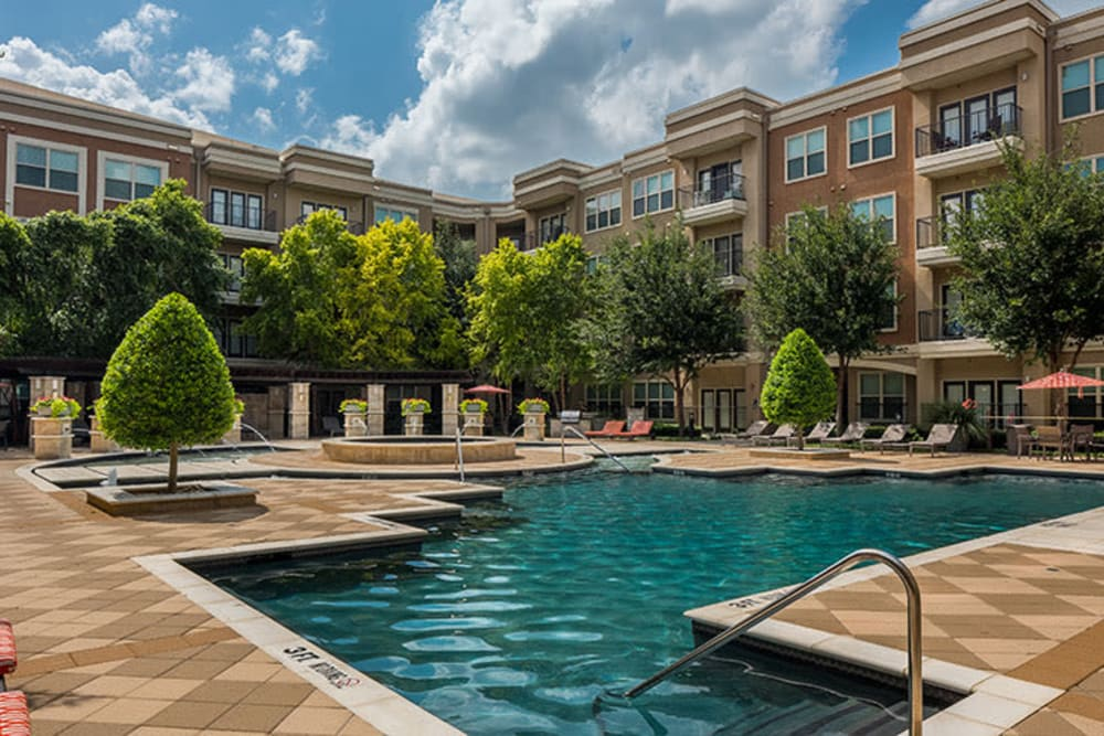 Swimming pool Addison Keller Springs in Addison, Texas.