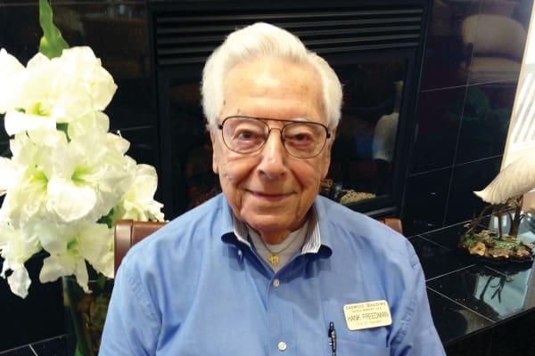 Hank Freedman at Ashwood Meadows Gracious Retirement Living in Johns Creek, Georgia