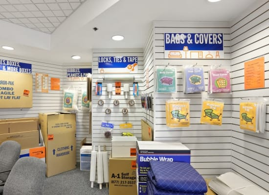 Packing supplies available at A-1 Self Storage in San Diego, California