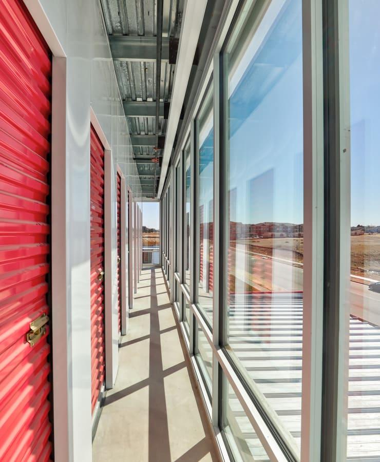 Interior storage units at StorQuest Self Storage in Denver, Colorado