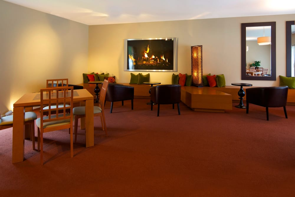 Resident clubhouse interior at Kensington Manor Apartments in Farmington, Michigan