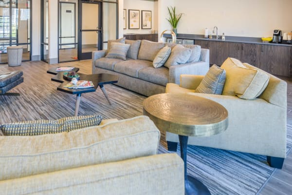 Large living room interior at Leigh House in Raleigh, North Carolina