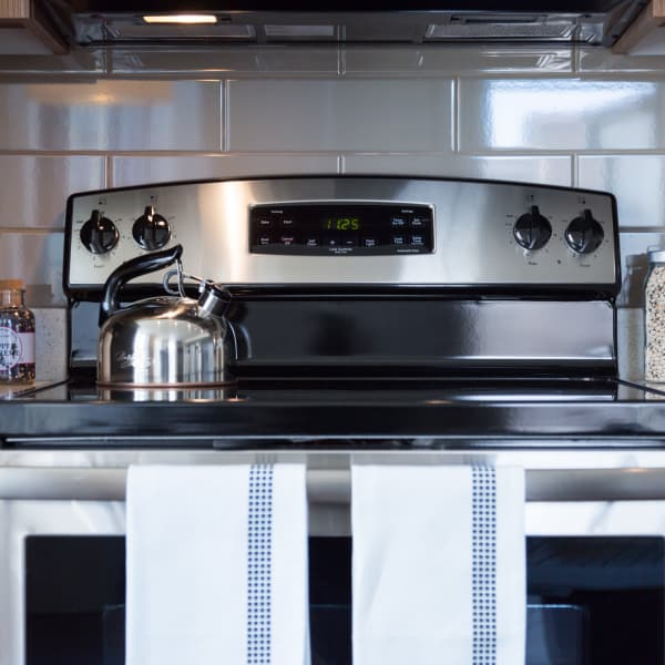 Stainless steel appliances at Cielo, Seattle, Washington