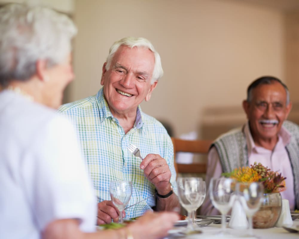 Residents enjoying a meal in the dining room at Marla Vista in Green Bay, Wisconsin.