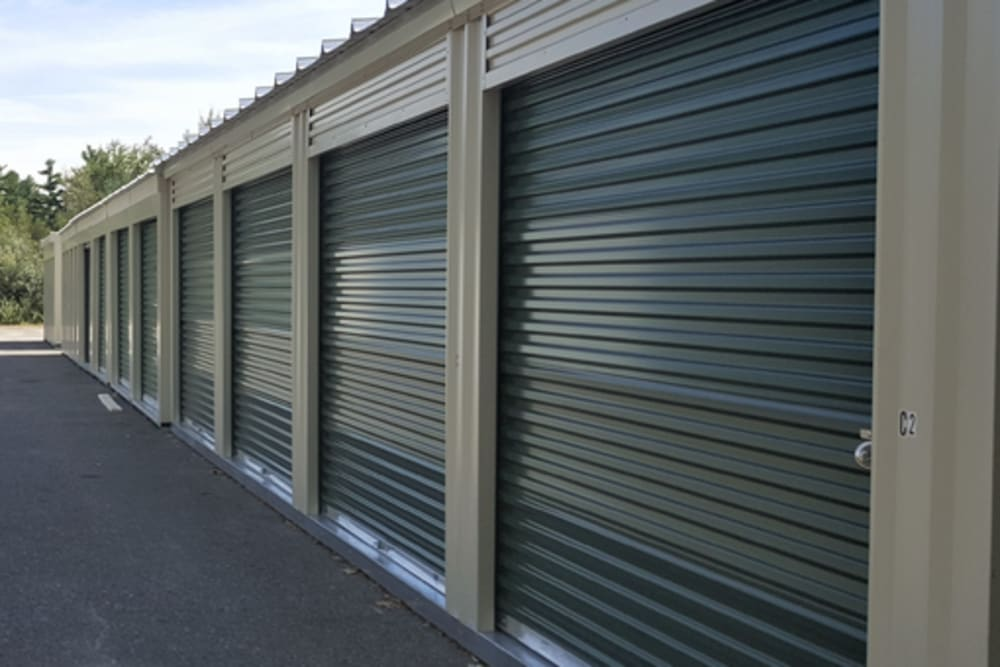 Sturdy storage doors at 603 Storage - Candia in Candia, New Hampshire