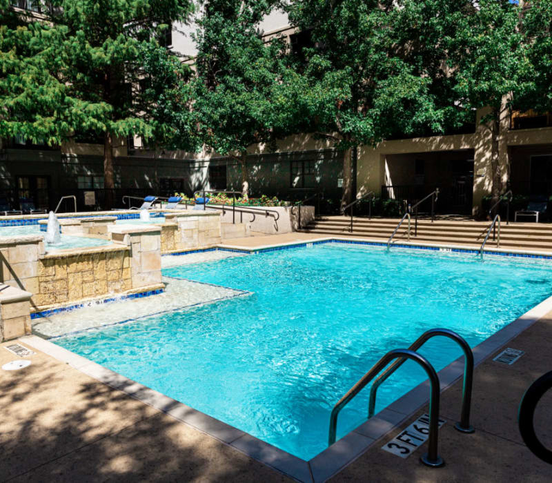 Swimming pool at Marquis at Texas Street in Dallas, Texas