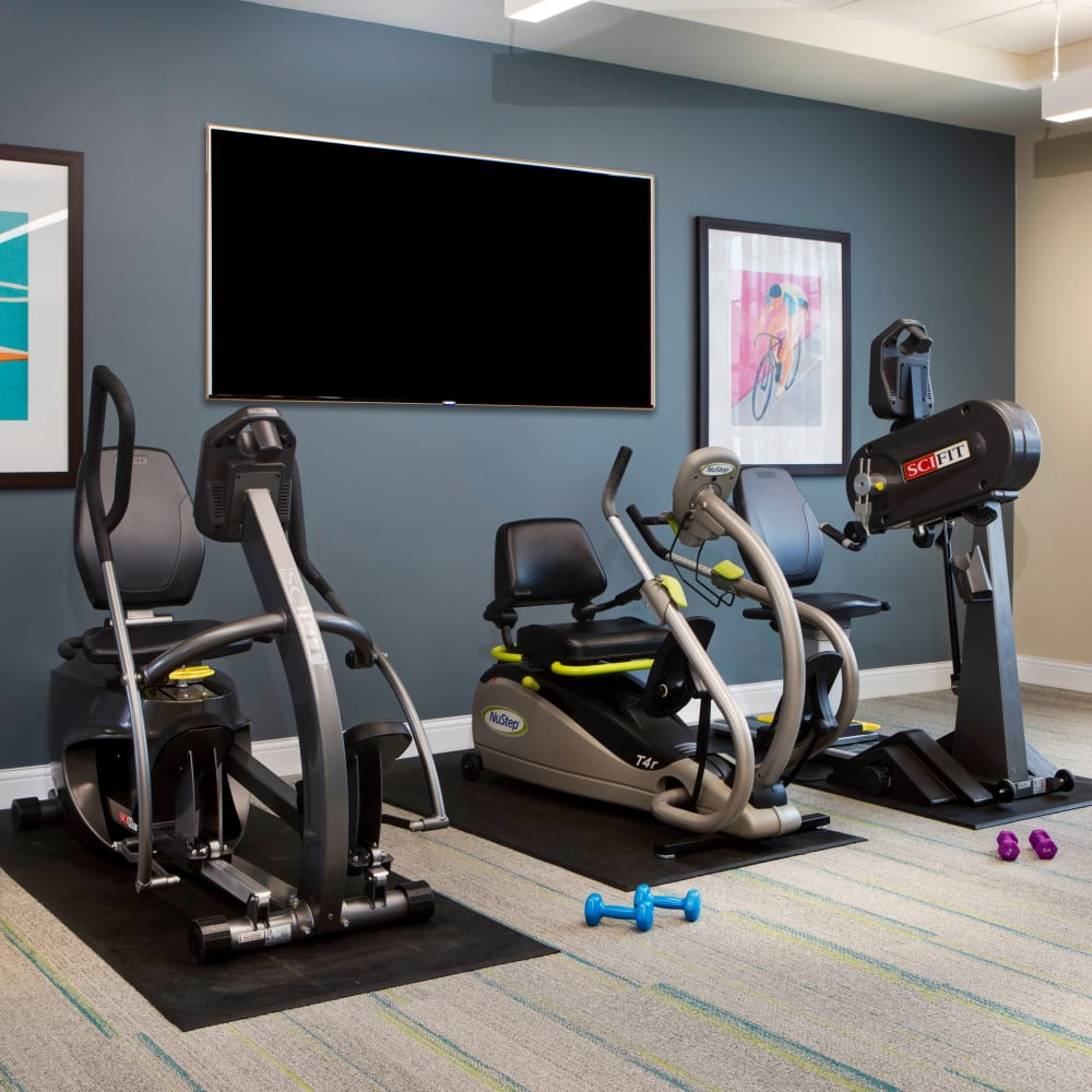 We feature on-site fitness centers at Stonecrest Senior Living communities