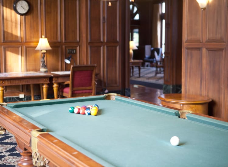Billiards room at Parkview in Memphis, Tennessee