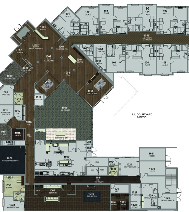 Assisted Living Building 1st Floor at Stonecrest of Meridian Hills