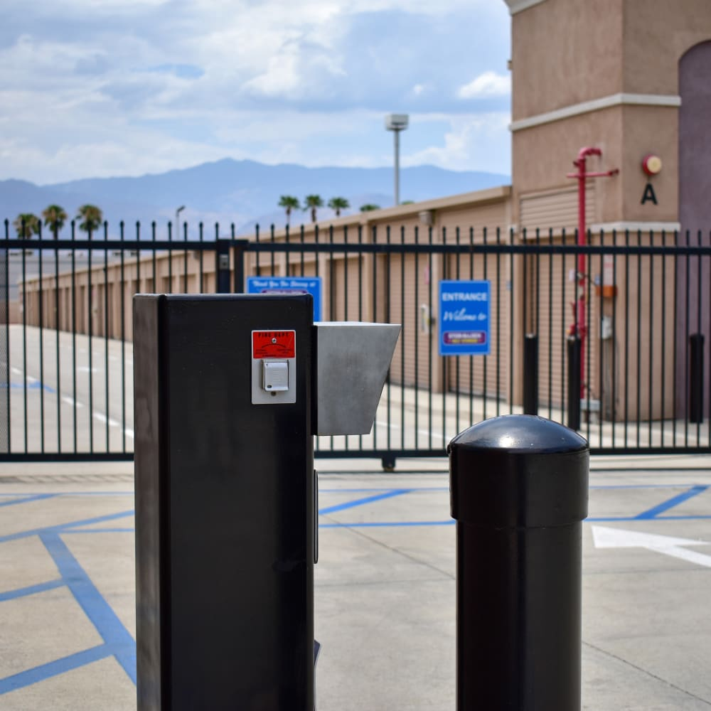 Keypad entry at STOR-N-LOCK Self Storage in Palm Desert, California