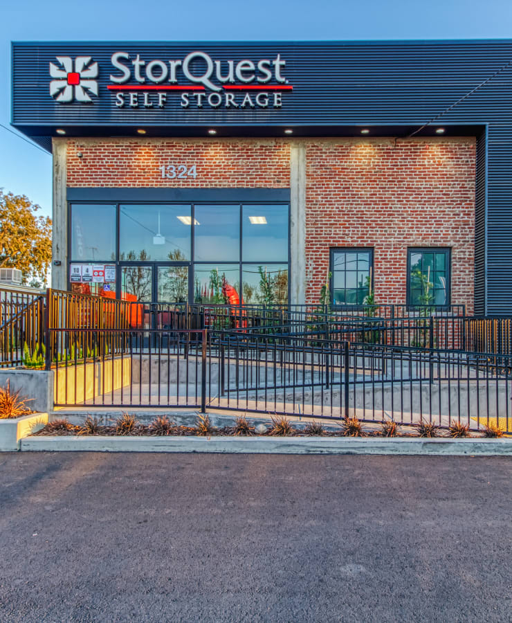 Exterior at StorQuest Self Storage in Modesto, California