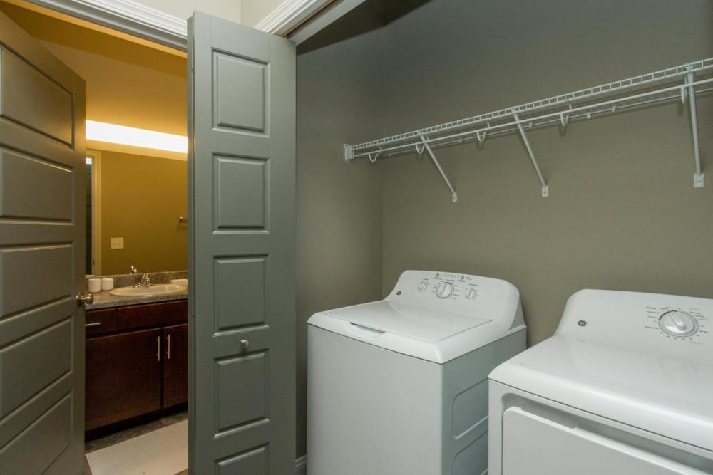 In-Suite laundry at The Cascades at Jordan Creek in West Des Moines, Iowa