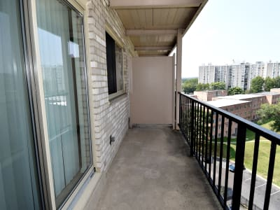 Kings Park Plaza Apartment Homes offers apartments with balconies in Hyattsville, Maryland