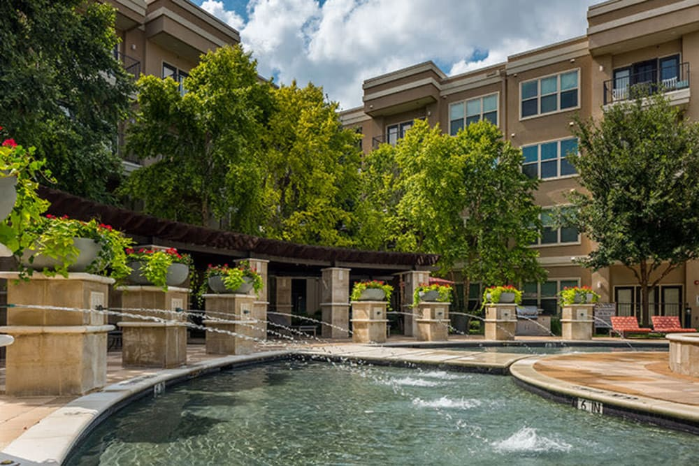 Swimming pool Addison Keller Springs in Addison, Texas.