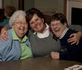 Residents enjoying time together at Meadow Ridge Senior Living