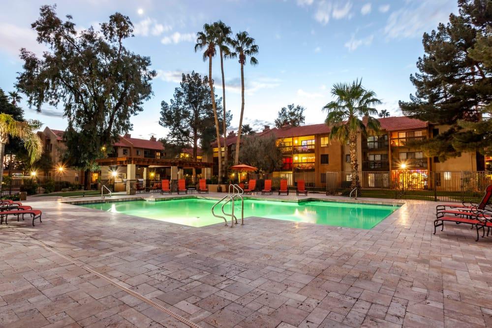 Our luxury apartments in Phoenix, Arizona showcase a swimming pool