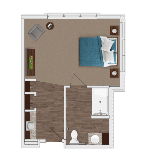 Memory Care Private Suite at Stonecrest of Louisville