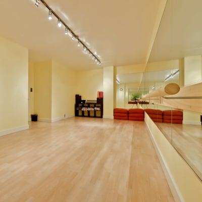 A in-house yoga studio at The Marc, Palo Alto in Palo Alto, California