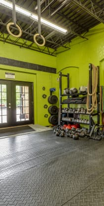 Fitness center at The Lofts Of Greenville in Greenville, South Carolina