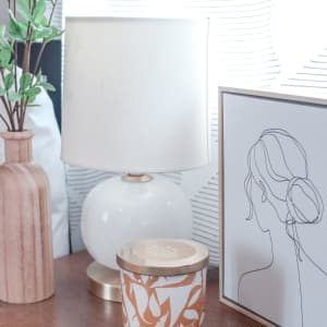 Bedside art and decoration at K Street Flats Apartment Homes in Berkeley, California