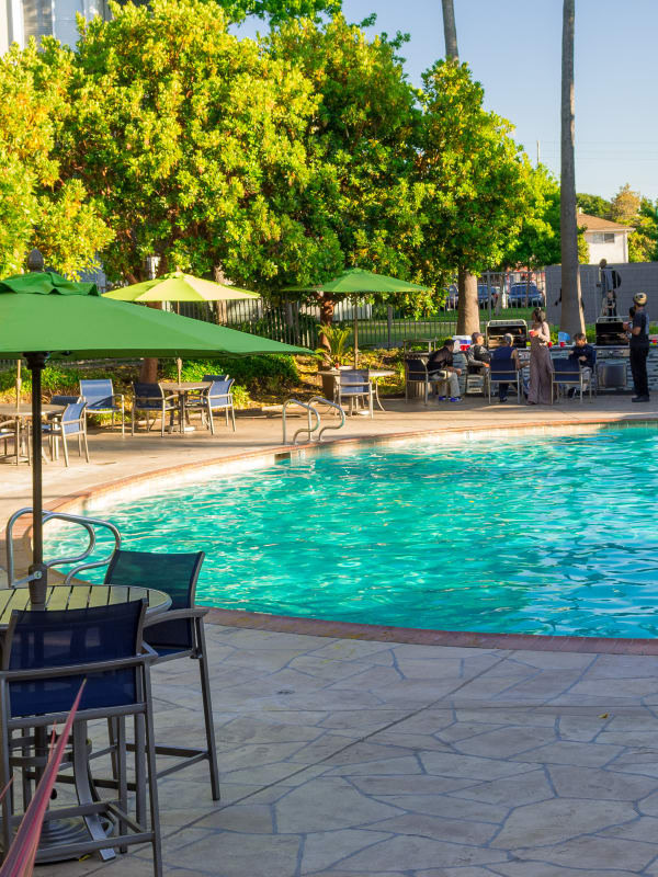 The pool at Summer House Apartments in Alameda, California