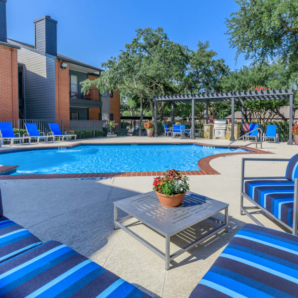 Sparkling pool at Windmill Terrace in Bedford, Texas