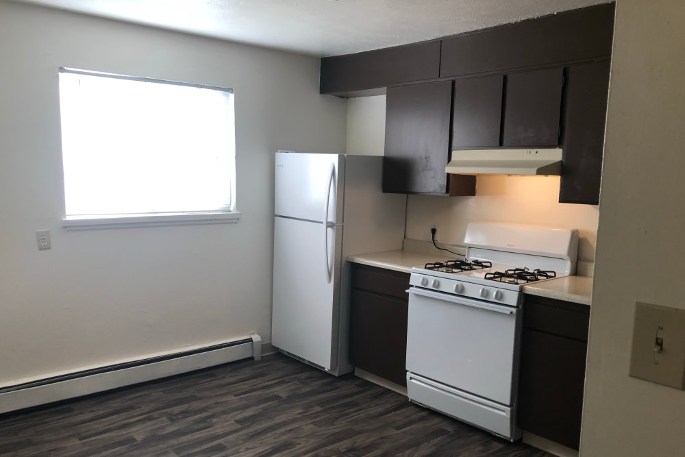 Model kitchen at Tiffany Square in Lakewood, Colorado