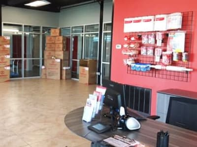 Interior view of the leasing office at Storage Star in Plano, Texas