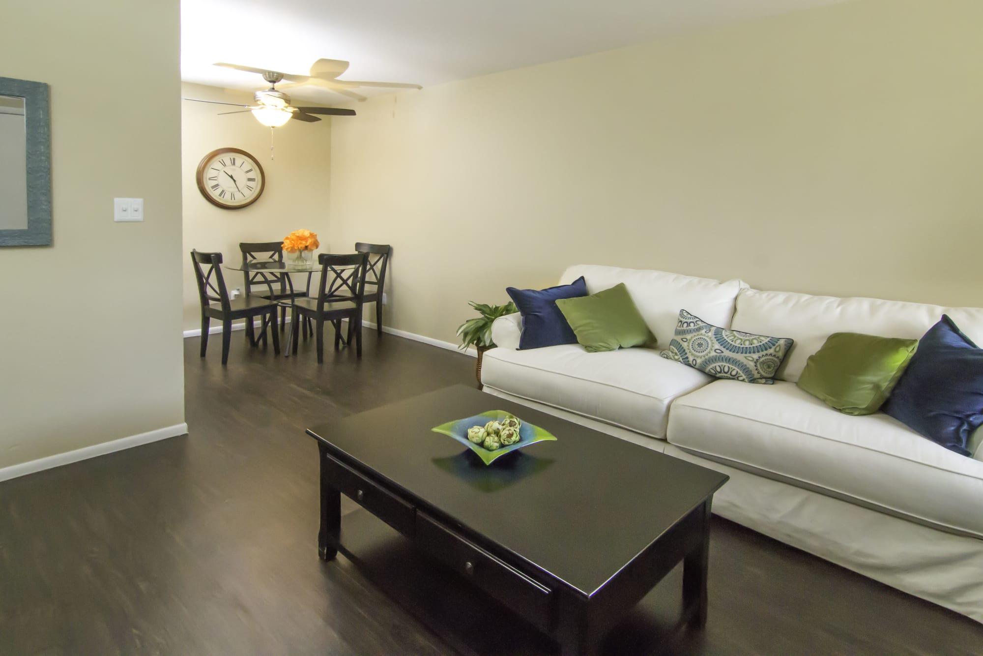 Callaway Apartments 1 Bedroom apartment living room