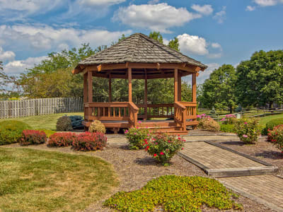 Beautiful gazebo at Perry's Crossing Apartments in Perrysburg Ohio